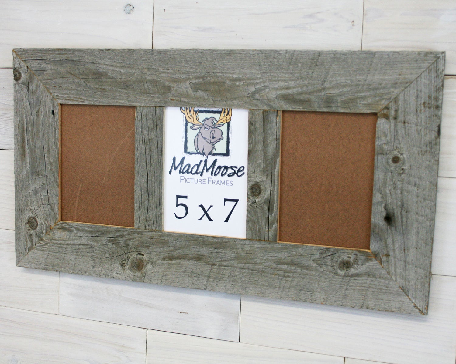 3 pane 5x7 Barn Wood [Thin x 3] Frame (barn wood frame barnwood ...