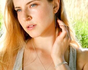Pave diamond necklace - diamond bar necklace - rough diamond jewelry - raw diamond jewelry - diamond spike necklace - minimalist jewelry