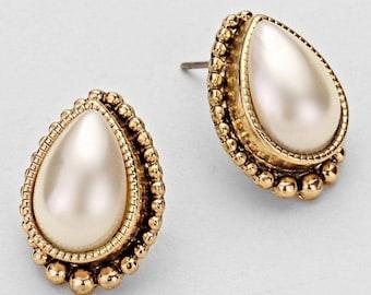 Pearl Style Fashion Earrings