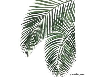 Reproduction Aquarelle - Feuille de Palmier