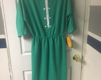 Leslie Fay Green Vintage Dress