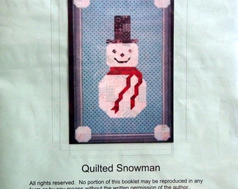 Quilted Snowman By Neon Flamingo Designs Needlepoint Pattern Packet 2002