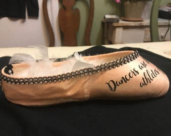 Decorative Pointe Shoe-Dancers are the athletes of God