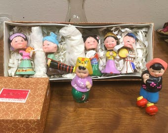 Seven Wuxi Clay Figurines