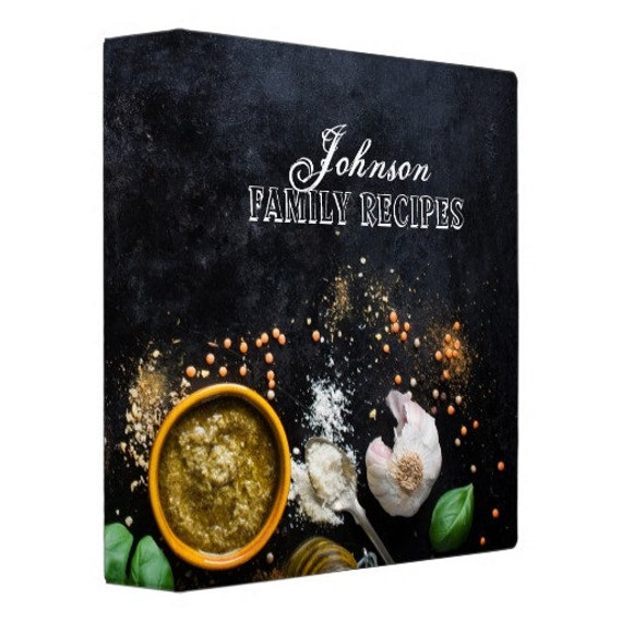 Herbs & Spices Personalized Recipe Binder