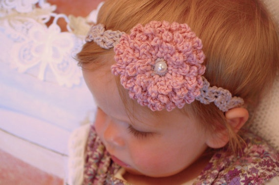 Vintage elegant flower headband crochet pattern mightylinksfo