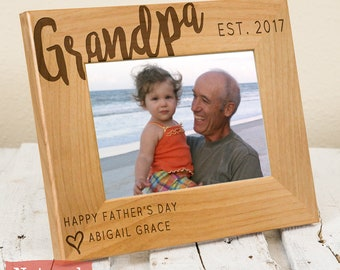Gifts For Grandpa Picture Frame - Gifts for Grandpa - Grandpa Gift - Fathers Day Gift - Grandpa Gift From Grandchildren