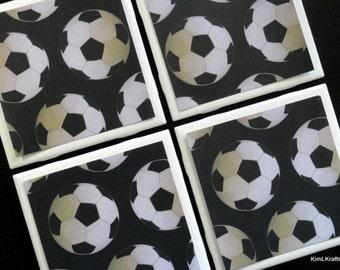 Drink Coasters - Tile Coasters - Ceramic Coasters - Ceramic Tile Coasters - Soccer Coasters - Coaster - Tile Coaster - Coasters for Drinks