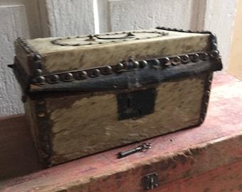 Antique Document Box Animal Hide 1825