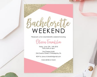 Bachelorette Weekend Invitation - Bachelorette Party Invite - Bachelorette Party Itinerary - Printable Bachelorette Party Invite Template