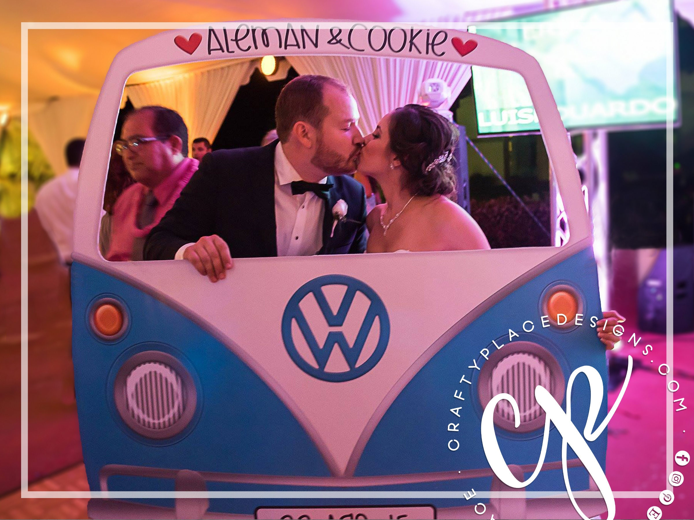 car photo booth frame vw bus photo booth prop wedding. Black Bedroom Furniture Sets. Home Design Ideas