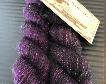 Witch Hunt Polar Opposites...  Canon Hand Dyes Oscar Sparkle Self Striping Sock Yarn