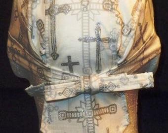 White/silver crosses Do-rag