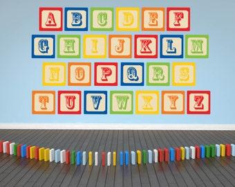Alphabet Wall Decals - ABC Wall Decals - Nursery Wall Decals - Alphabet Wall Art - Nursery Wall Art