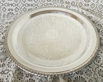 Silver plate tray, vintage, Leonard, 15 1/2""