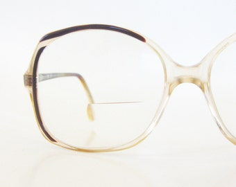 1970s Womens Oversized Glasses Boho Chic Optical Frames Ladies Eyeglasses 70s Seventies Oxblood Brown Marbled Pearl Indie Hipster Chic