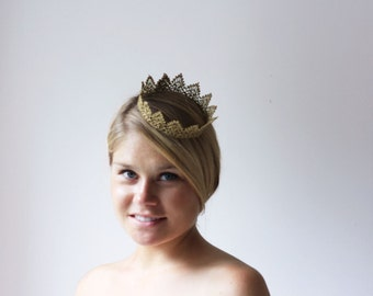 """Gold Princess Royal Lace Crown """" Petite Princess Crown"""" -  queen, halloween costume, fairy tale"""