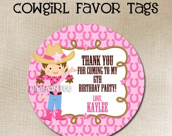 Cowgirl Favor Tags