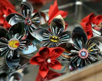 Comic Book boutonniere/ buttonhole flower