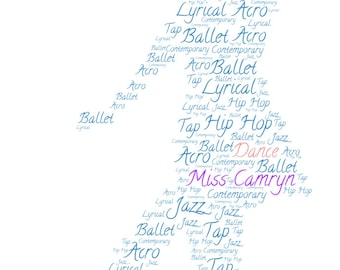 Personalized Dance Print, perfect for students and teachers