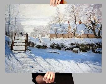 Poster 50x70 cm The Magpie - Claude Monet Digital