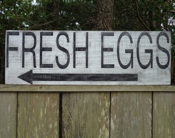 Fresh Eggs Sign, Kitchen Signs, Fixer Upper Inspired Signs, 34x11.25, Reclaimed Wood Signs, Farmhouse Signs, Rustic Signs, Wall Hangings