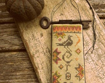 Primitive Cross Stitch Pattern - Primitive Crow