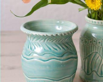 Vase, Celadon Vase, Stoneware Vase, Wheel Thrown Vase, Handmade Vase, Wheel Thrown Pottery, Nature Vase, Celadon Pottery, Handmade Vase