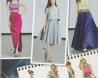 Simplicity 0369  Womens 2 Piece  Party Dress, Prom Dress, Evening Gown or Bridesmaid Dress in 8 Variations Size 4,6,8,10,12 UNCUT