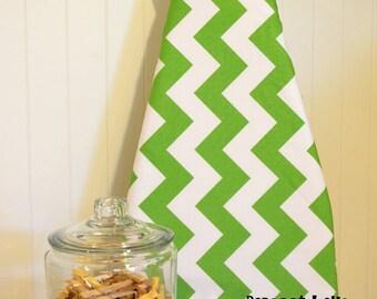 Designer Ironing Board Cover - Riley Blake Large Chevron Green