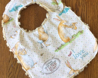 Guess How Much I Love You Minky Baby/Toddler Bib