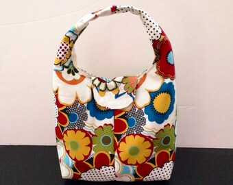 Insulated Lunch Bag - Colorful Flowers