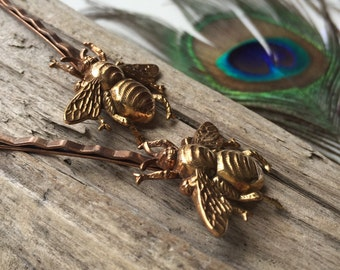 Bumble bee hairpins