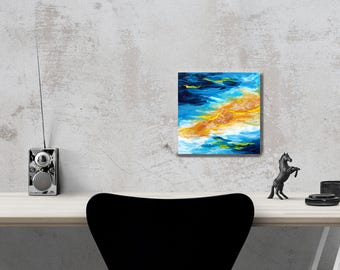 Abstract painting on canvas. Acrylic. Original. Contemporary art. Gift idea. Home and Living.