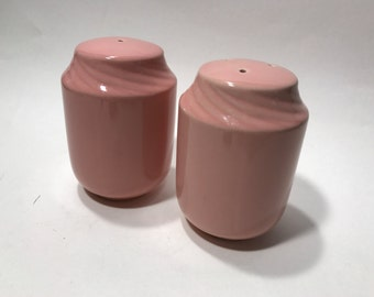 Large Vintage PINK Salt and Pepper Shakers Ceramic Plugs