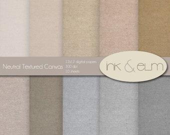 digital paper textures,  linen texture, scrapbook paper, textured paper, texture backgrounds, printable paper, canvas textures