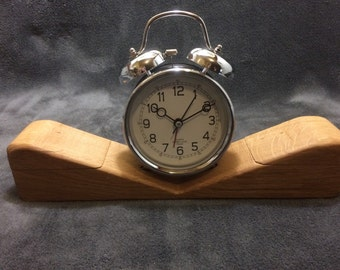 Clock with two boxes, oak