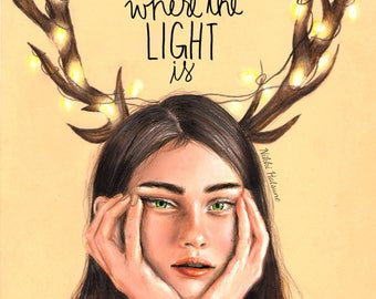 Keep Me Where The Light Is - ORIGINAL drawing