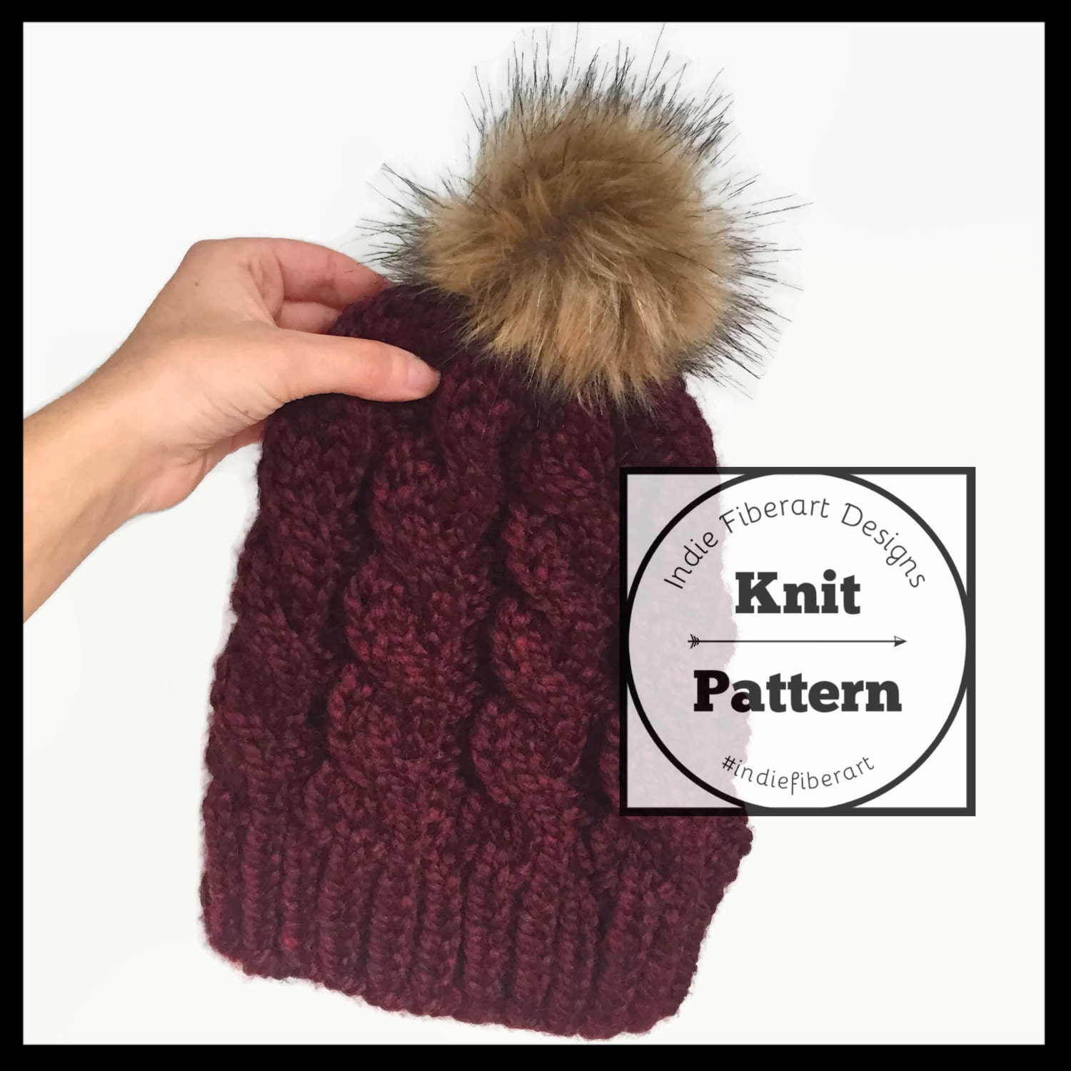 DIY KNITTING PATTERN // The Victoria Beanie // Cable Knit Slouch ...