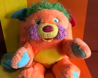 Vintage Popples Those Characters From Cleveland Stuffed Toy American Greetings Mattel 1986 Orange Named Puzzle