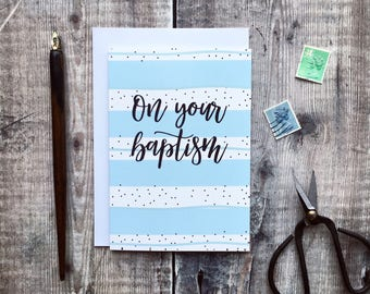 On Your Baptism Card - Christian Cards UK - Baptism Gifts - Baptism Day Card - Christian Gifts - Christening Card - Dedication Card