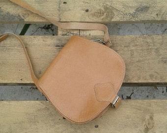 Saddle Bag, Crossbody Bag, Satchel, Leather Purse, Crossbody  handbag, Women Handbag, Clutch Bag, Handmade, Real Leather,Adjustable strap,