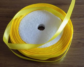Satin ribbon yellow chick
