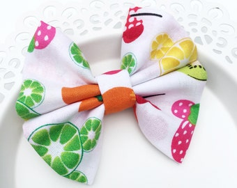 Fabric Bow, Baby Headband,  Fruity Mickey Bow, Bow Headband