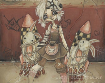 Tiny Tina -  Borderlands fan art lowbrow art print- Tina and the Damsels
