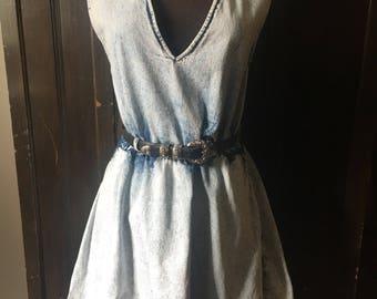 Great Acid Washed Denim Tank Dress Size S/M