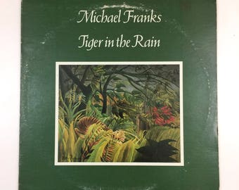 Vintage Michael Franks Tiger in the Rain LP [1979]