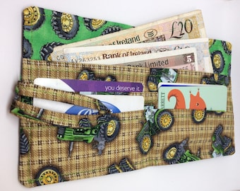 Green and Yellow Tractor Wallet