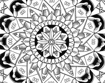 3 Digital Colouring Pages #5