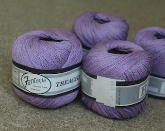 Destash Lot Yarn Purple Textured Cotton Fantacia From Italy 50 grams 66 yards 10 Skeins Crocheting Knitting Weaving Crafting Supplies